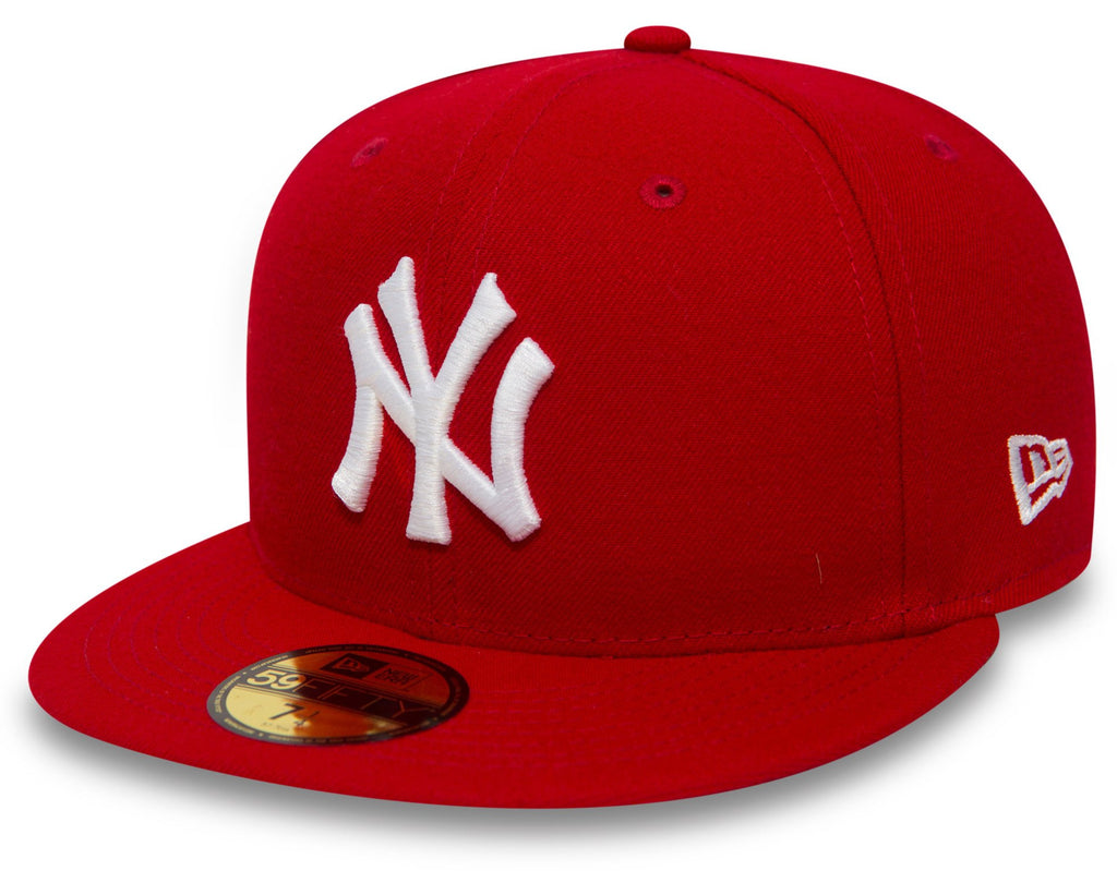 New York Yankees New Era 59Fifty MLB Scarlet/White Baseball Cap - lovemycap