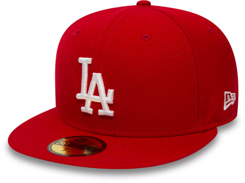 New Era 5950 MLB LA Dodgers Scarlet/White Cap +New Era Gift Box