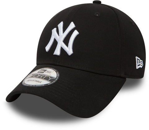 New Era 940 League Basic NY Yankees Adjustable Black Baseball Cap - pumpheadgear, baseball caps