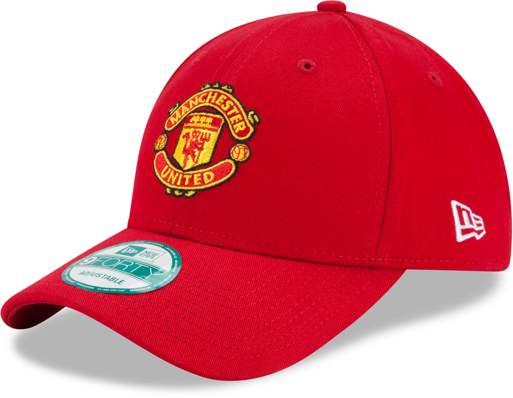 Manchester United New Era 940 Team Basic Red Cap - pumpheadgear, baseball caps