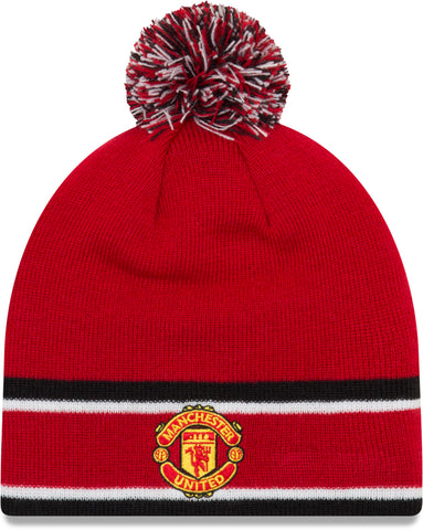 74a2482f44faa9 Manchester United New Era Bobble Skull Knit Beanie - pumpheadgear, baseball  caps