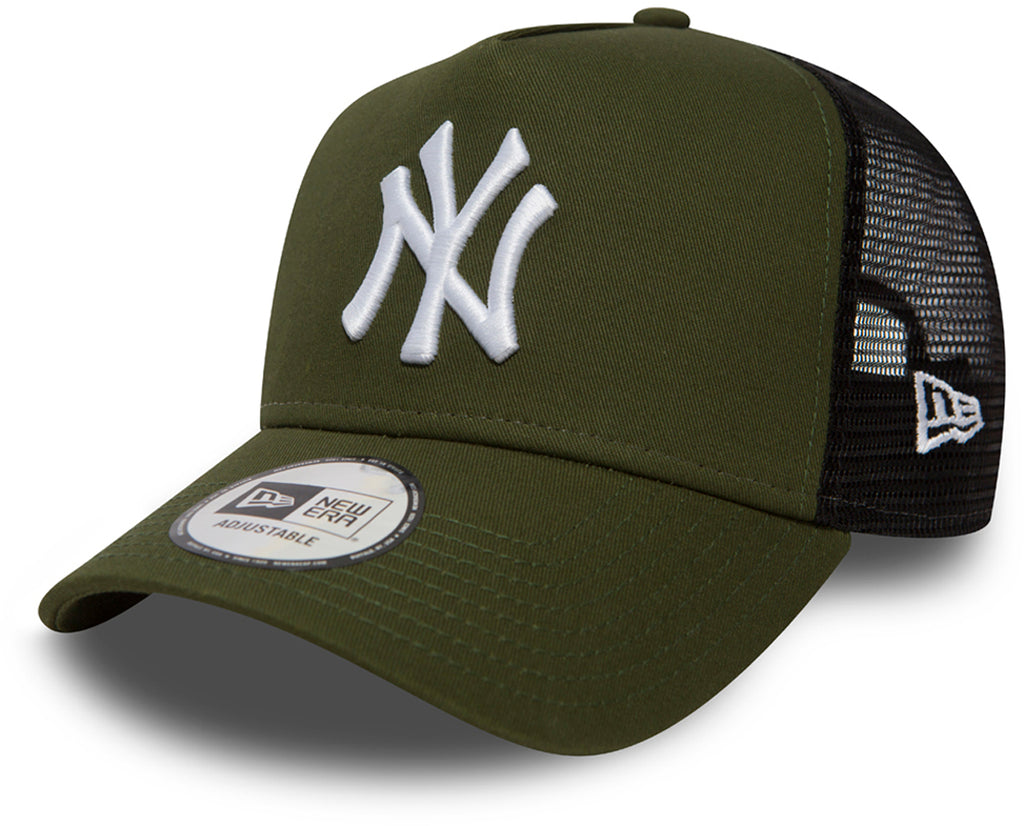 NY Yankees New Era League Essential Olive green Trucker Cap