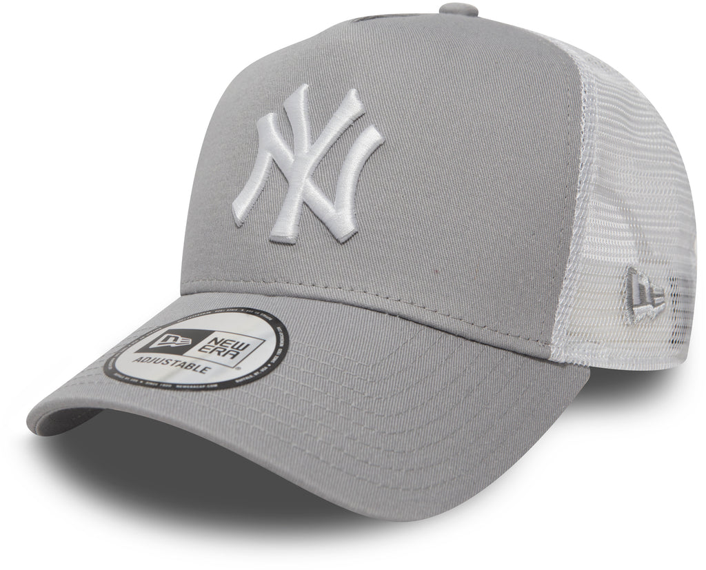 NY Yankees New Era Grey Clean Trucker Cap