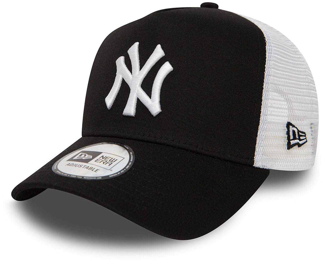 f1853b1fe46bad NY Yankees New Era Black Clean Trucker Cap – lovemycap
