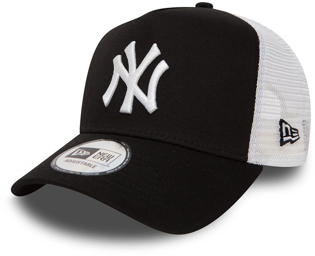 NY Yankees New Era Black Clean Trucker Cap