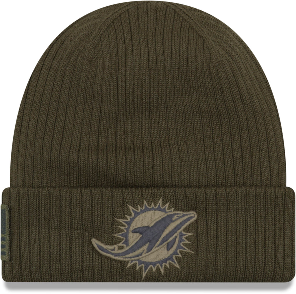 Miami Dolphins New Era Knit On Field 2018 STS Beanie
