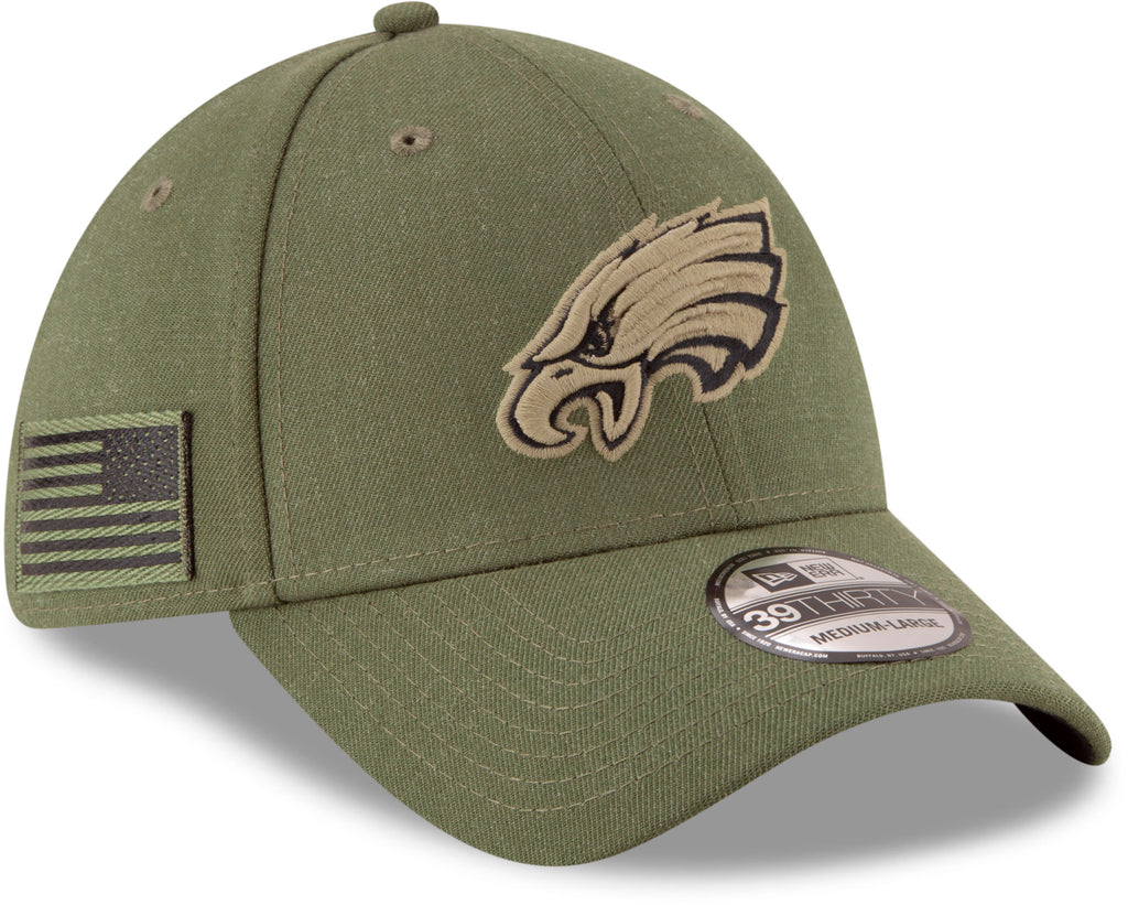 f1d51dcb27e Philadelphia Eagles New Era 3930 NFL On Field 2018 STS Stretch Fit Cap