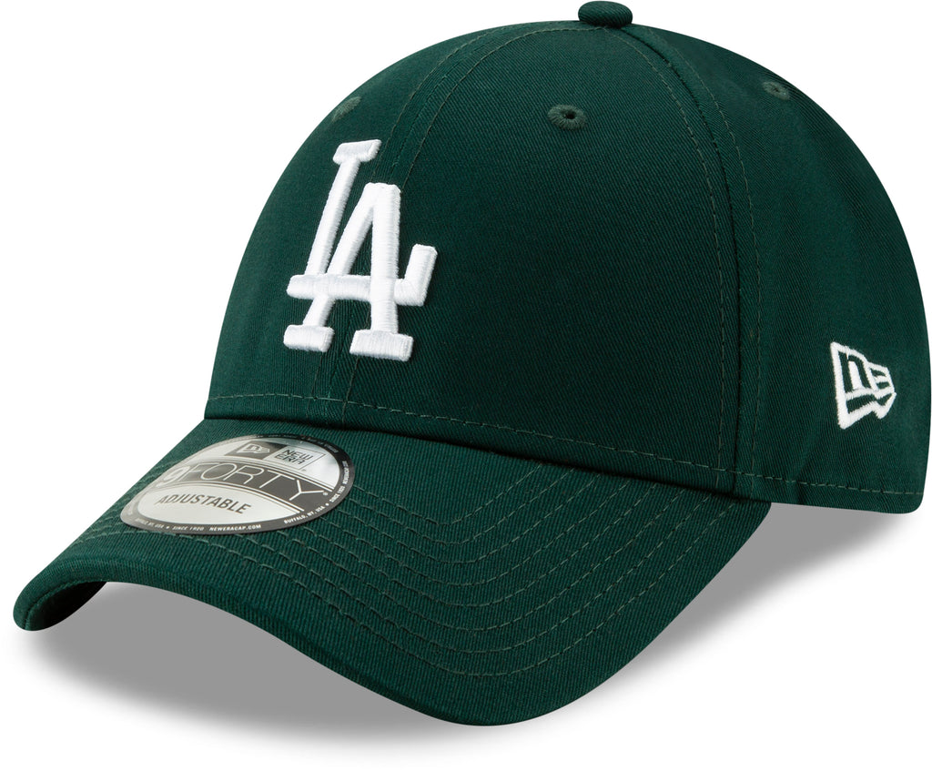 LA Dodgers New Era 940 League Essential Baseball Cap - Dark Green - pumpheadgear, baseball caps
