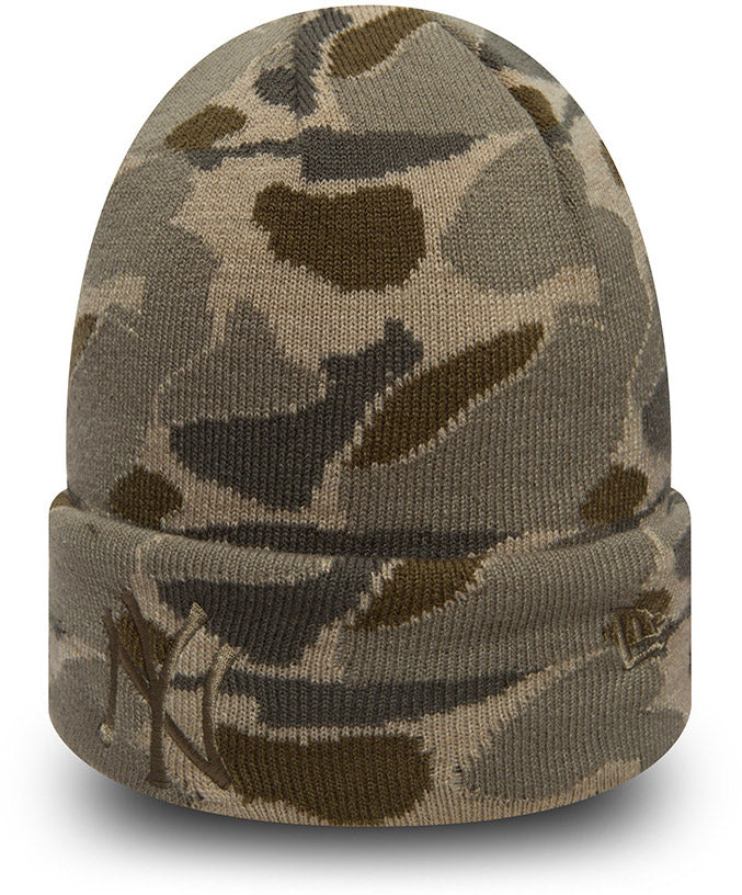 NY Yankees New Era Camo Cuff Knit Beanie