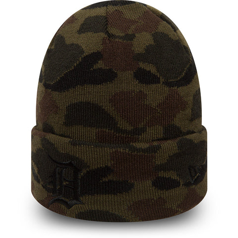 Detroit Tigers New Era Camo Cuff Knit Beanie - pumpheadgear, baseball caps