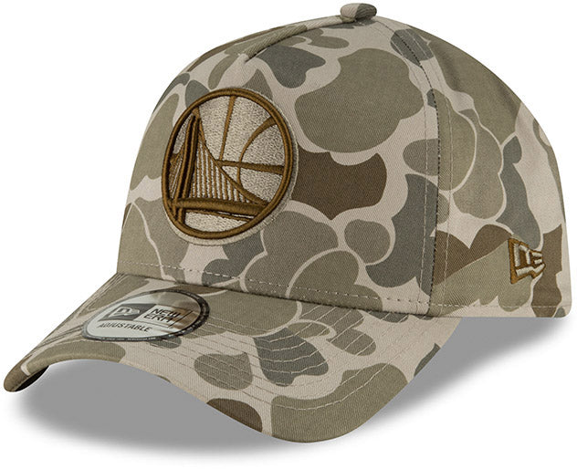 Golden State Warriors New Era Camo A-Frame NBA Team Cap - pumpheadgear, baseball caps