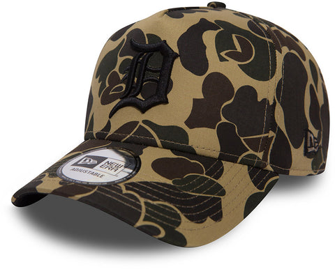 Detroit Tigers New Era Camo A-Frame Baseball Cap - pumpheadgear, baseball caps