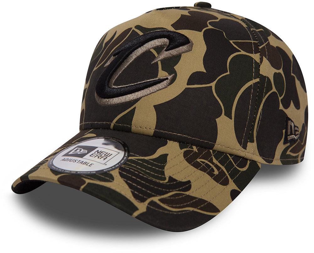 Cleveland Cavaliers New Era Camo A-Frame NBA Team Cap - pumpheadgear, baseball caps