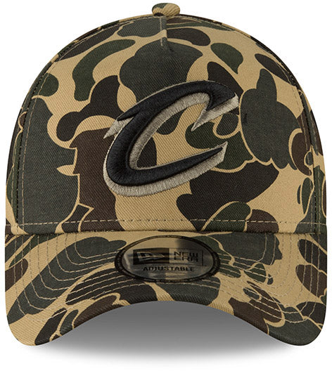 6112d3faf50 ... Cleveland Cavaliers New Era Camo A-Frame NBA Team Cap - pumpheadgear