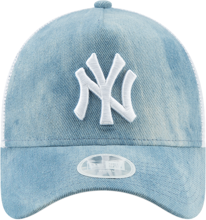 84a69c6a NY Yankees Womens New Era A-Frame Tie Dye Light Blue Trucker Cap ...
