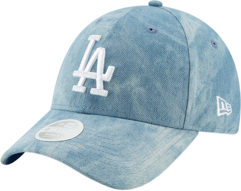 LA Dodgers Womens New Era 940 Tie Dye Light Blue Baseball Cap