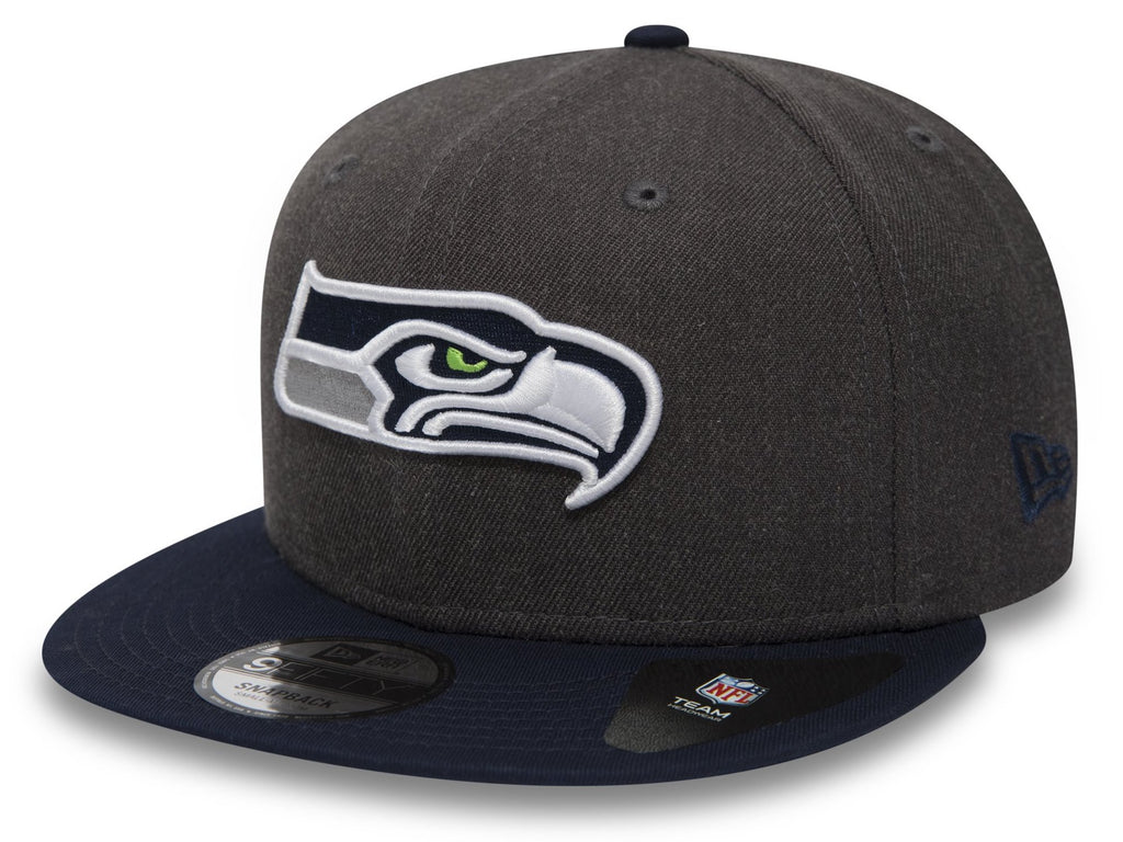 Seattle Seahawks New Era 950 NFL Heather Snapback Cap + Gift Box