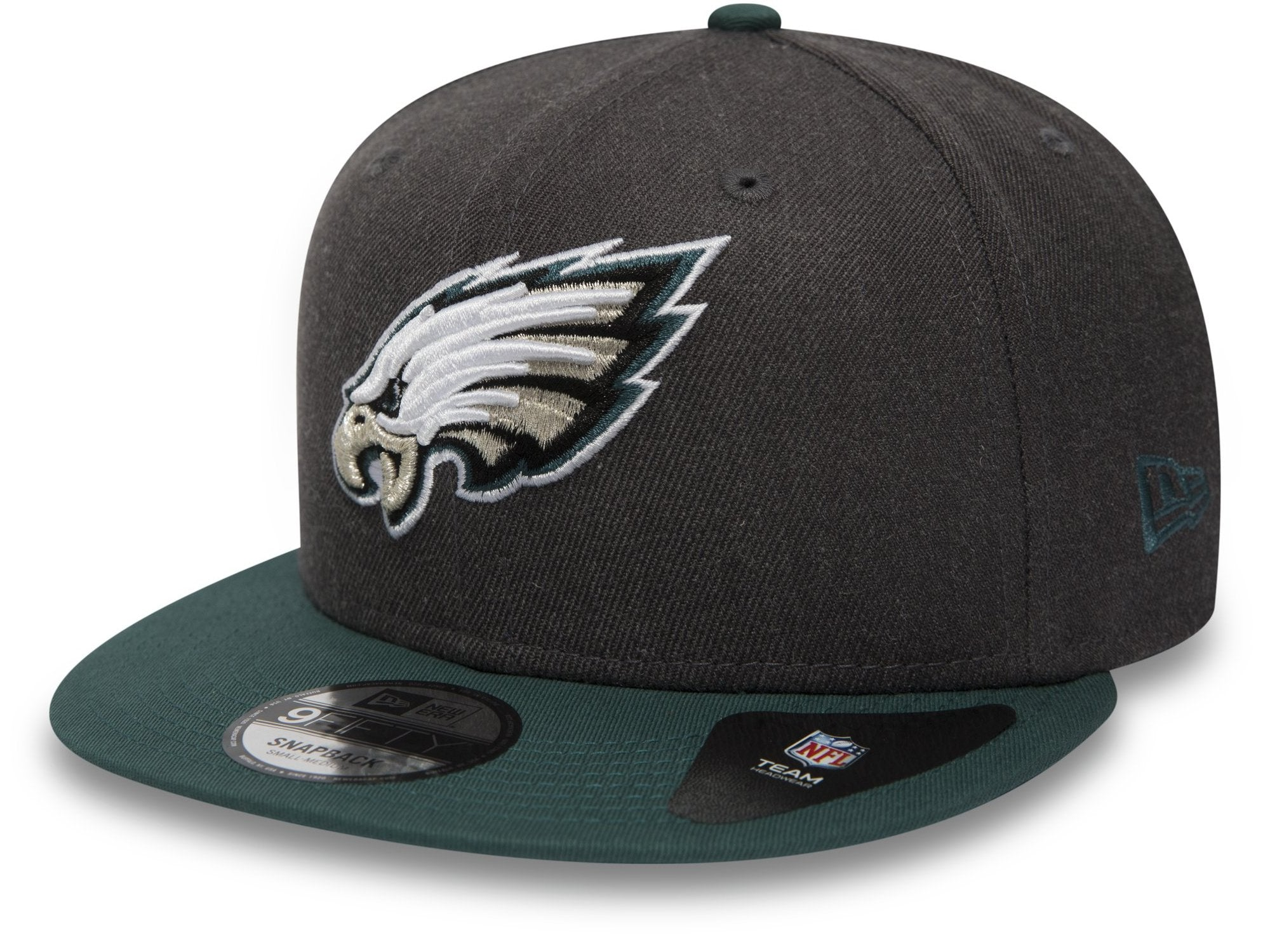 1ac22299fbb235 Philadelphia Eagles New Era 950 NFL Heather Snapback Cap + Gift Box –  lovemycap