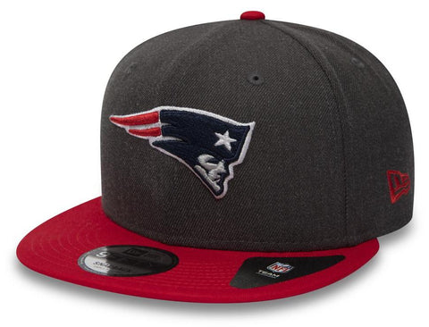 New England Patriots New Era 950 NFL Heather Snapback Cap + Gift Box