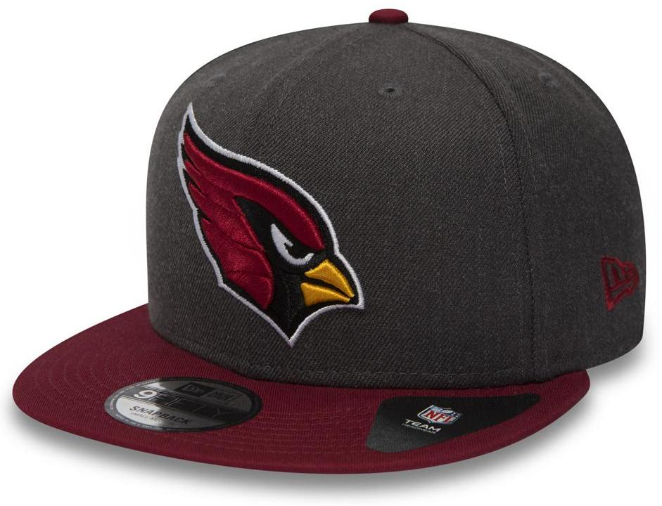 Arizona Cardinals New Era 950 NFL Heather Snapback Cap + Gift Box - pumpheadgear, baseball caps
