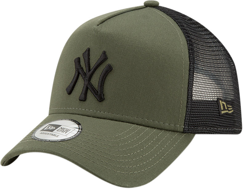 b841d3441ca NY Yankees New Era League Essential Olive Trucker Cap – lovemycap