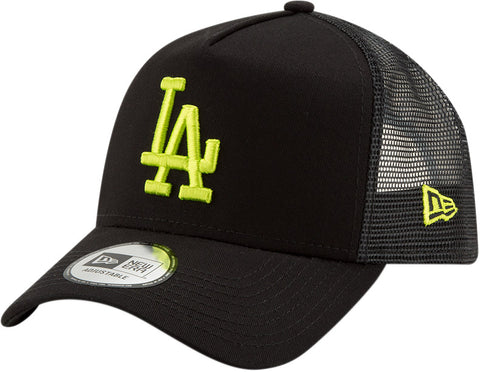 LA Dodgers New Era Kids League Essential Black Trucker Cap (Ages 2 - 10 years)