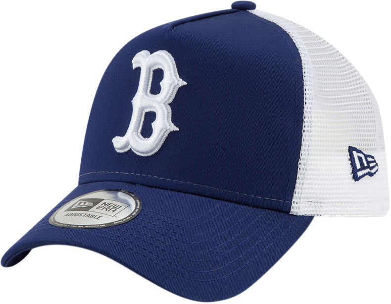11b05466e2e Boston Red Sox New Era Kids League Essential Blue Trucker Cap (Ages ...