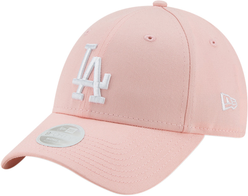 LA Dodgers Womens New Era 940 League Essential Pink Baseball Cap