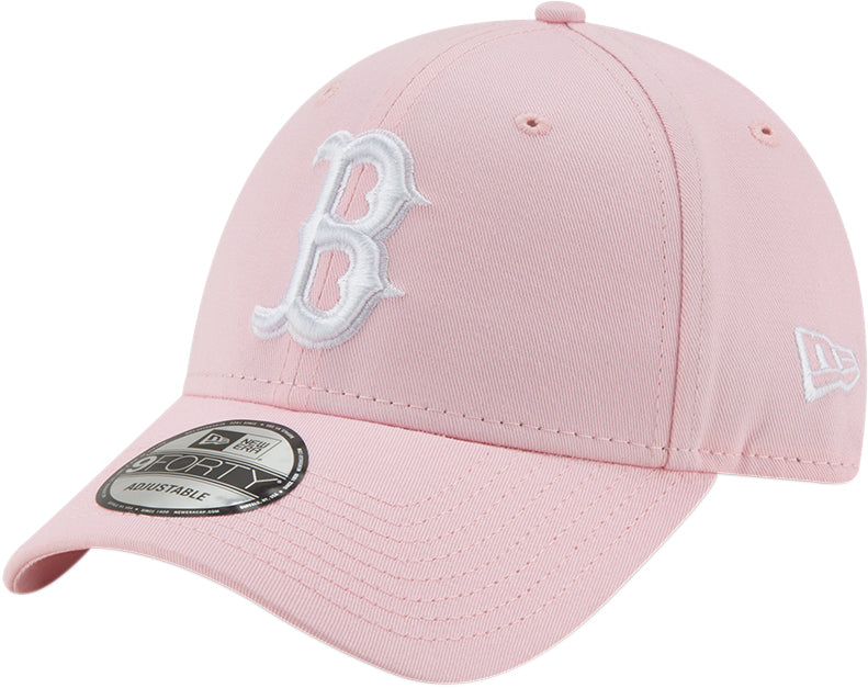 Boston Red Sox Womens New Era 940 League Essential Pink Baseball Cap - pumpheadgear, baseball caps
