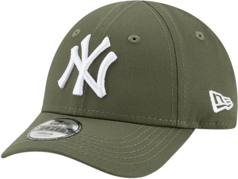 NY Yankees New Era 940 Kids League Essential Olive Cap (Ages 2 - 10 years)