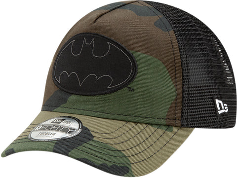 Batman New Era Kids DC Comics Camo Character Trucker Cap (Ages 2 - 10 years) - pumpheadgear, baseball caps