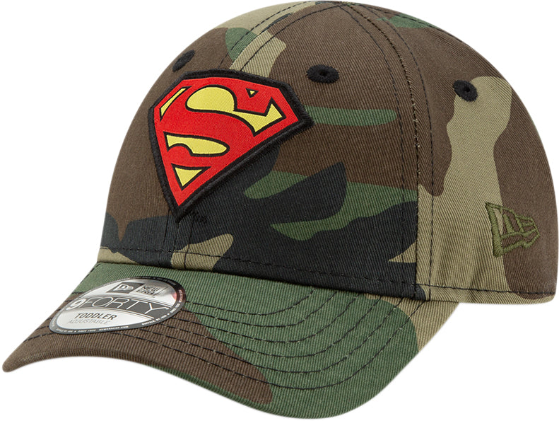 detailed look 3552b 254d6 Superman New Era 940 DC Comics Camo Character Kids Cap (Ages 2 - 10 ye –  lovemycap