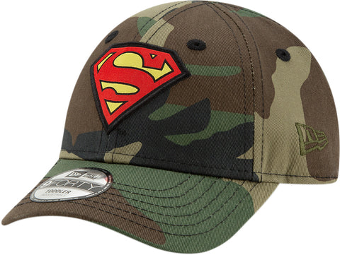 Superman New Era 940 DC Comics Camo Character Kids Cap (Ages 2 - 10 years)