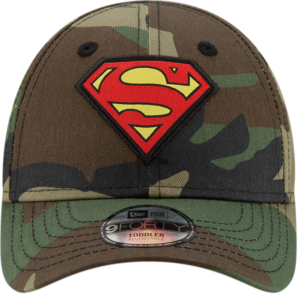 save off 8e312 71be7 ... Superman New Era 940 DC Comics Camo Character Kids Cap (Ages 2 - 10  years ...