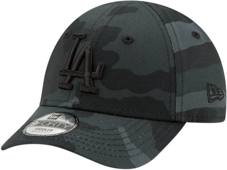 LA Dodgers New Era Kids 940 Camo Fabric Baseball Cap (Ages 2 - 10 years)