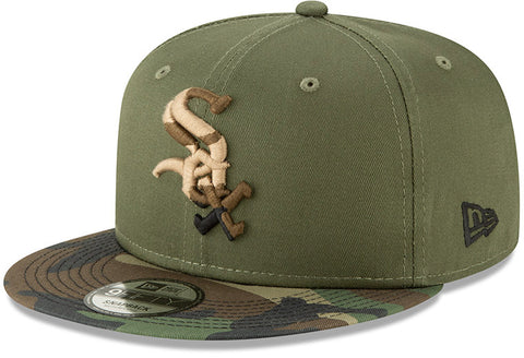 Chicago White Sox New Era 950 Camo Essential Snapback Cap + Gift Box - pumpheadgear, baseball caps