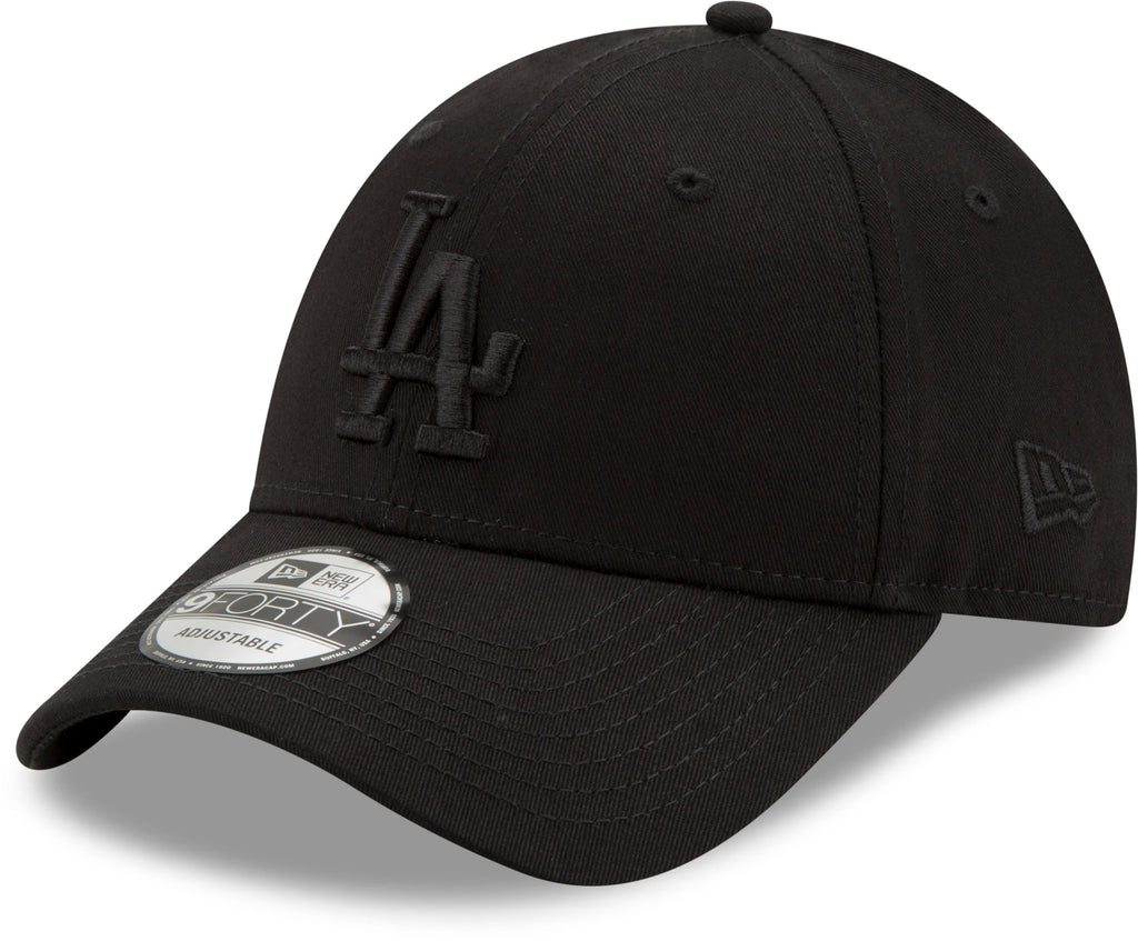 LA Dodgers New Era 940 All Black Snapback Cap