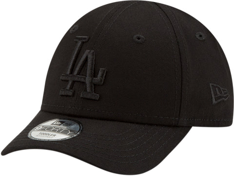 LA Dodgers New Era Kids 940 All Black Snapback Baseball Cap (Ages 2 - 10 years)