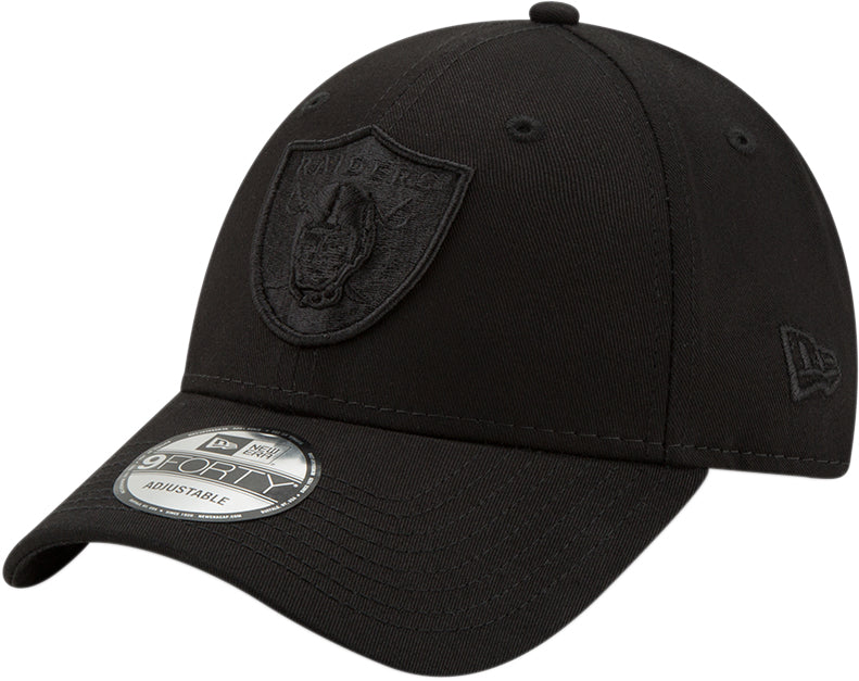 Raiders New Era 940 All Black Snapback Cap