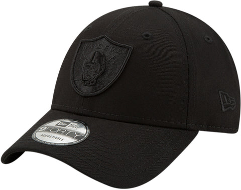 Raiders New Era 940 All Black Snapback Cap - pumpheadgear, baseball caps