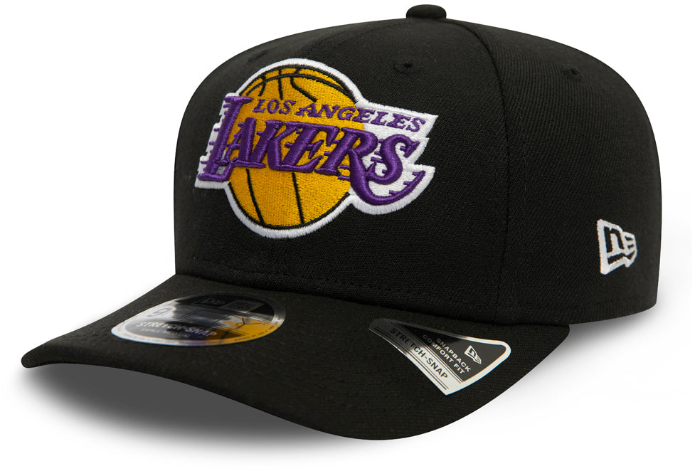 LA Lakers New Era 950 Black Stretch Snapback Cap - pumpheadgear, baseball caps