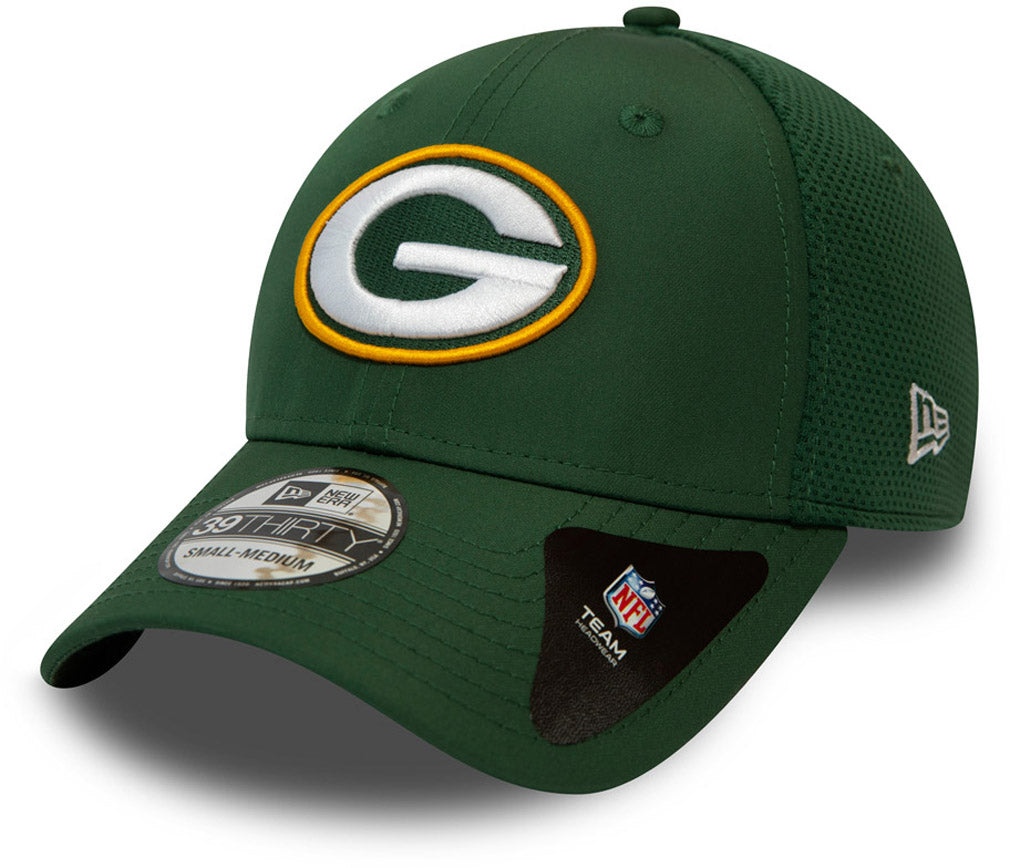 Green Bay Packers New Era 3930 NFL Featherweight Stretch Fit Cap - pumpheadgear, baseball caps