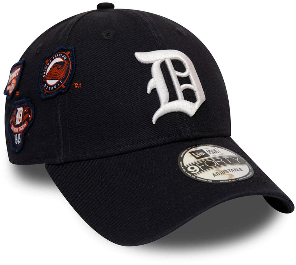 Detroit Tigers Cooperstown Patched New Era 940 Baseball Cap