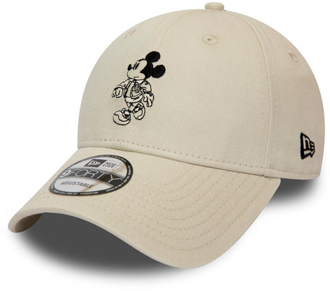 Street Mickey New Era 940 Cream Baseball Cap