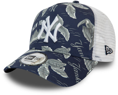NY Yankees New Era MLB Desert Island Navy Trucker Cap