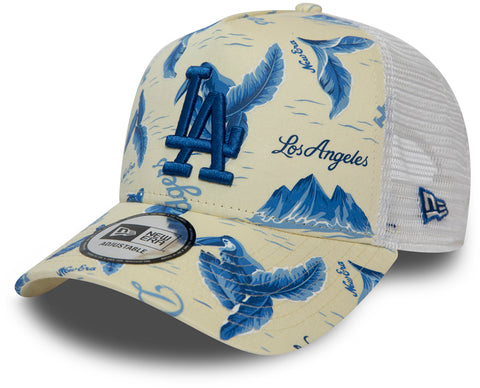 LA Dodgers New Era MLB Desert Island White/Blue Trucker Cap