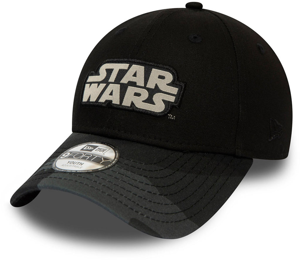 Star Wars New Era 940 Kids Camo Black Baseball Cap (Ages 2 - 10 years)