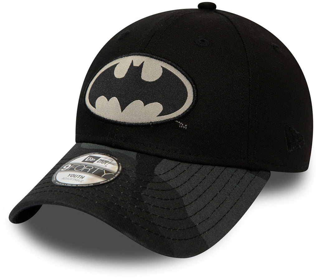 Batman New Era 940 Kids Camo Black Baseball Cap (Ages 2 - 10 years) - pumpheadgear, baseball caps