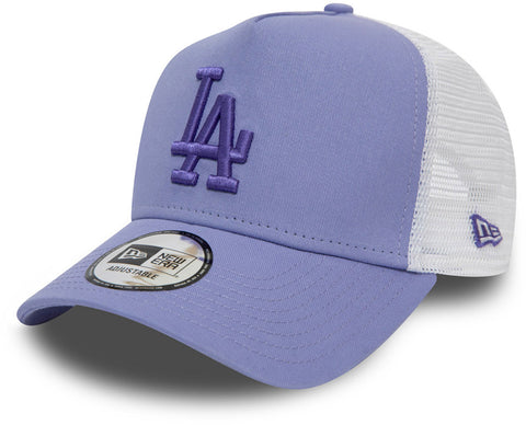 LA Dodgers Womens New Era Essential Lavender Trucker Cap