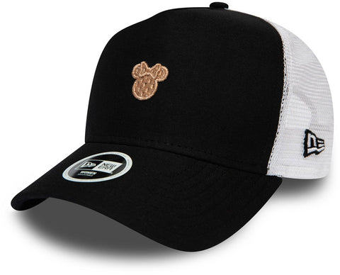 Minnie Mouse Womens New Era Disney Black Trucker Cap